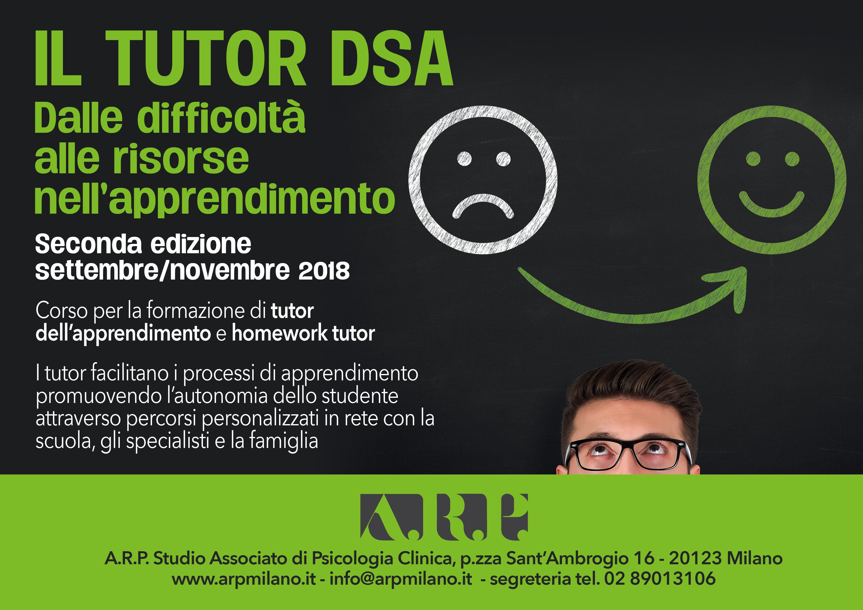 """Corso """"Il Tutor DSA: Dalle Difficoltà Alle Risorse Nell'apprendimento"""" II Edizione"""