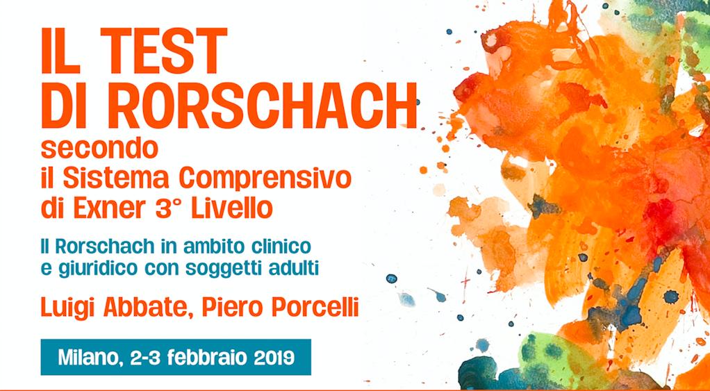 """Corso """"Il Test Di Rorschach"""" – Luigi Abbate, Piero Porcelli"""