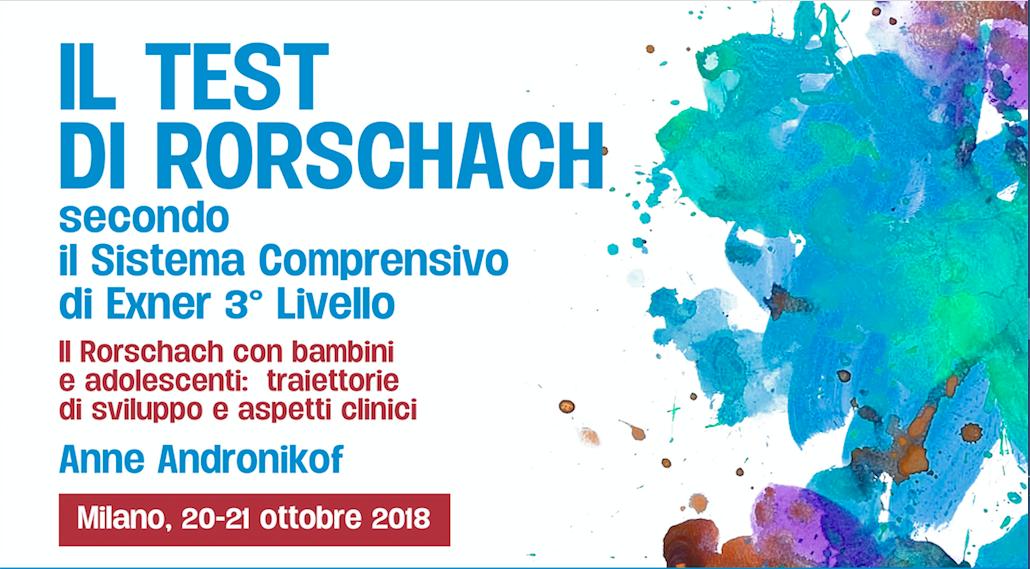 """Corso """"Il Test Di Rorschach"""" – III Livello – Anne Andronikof"""